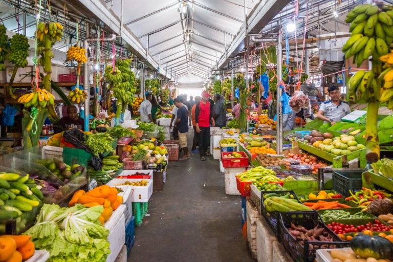 Maldive Male City fruit market